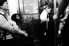 Scene in the Metro, Paris, 2015.