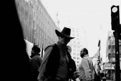 Streetscene with Cowboy, Madrid, 2017.